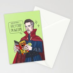 Doctor Strange reading Doctor Strange Stationery Cards