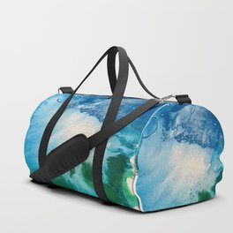 Environmental Blue and Green Painting # 7 Duffle Bag