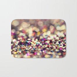 Rainbow Sprinkles - an abstract photograph Bath Mat