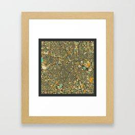HOUSTON MAP Framed Art Print