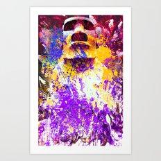 moai in Purple Art Print
