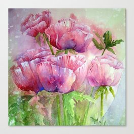 Dreamy pink tulips Canvas Print