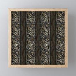 Linear Hawaiian Tapa Cloth Framed Mini Art Print
