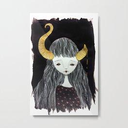 Golden Fawn Metal Print