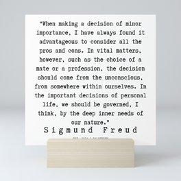 26  |   Sigmund Freud Quotes | 190926 Mini Art Print
