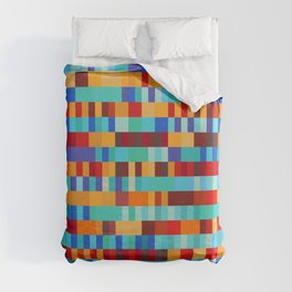 Bach Invention (Fire and Iceberg Colours) Duvet Cover