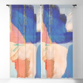 Sanibel - Shapes and Layers no. 34 - Abstract Blackout Curtain