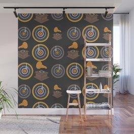 Gramophone and vinyls Wall Mural