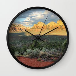 Sedona Red Rocks Vortex - Arizona Wall Clock