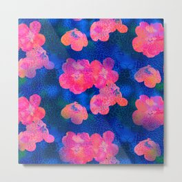 Leopardflowers by Odette Lager Metal Print