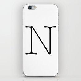 Letter N Typewriting iPhone Skin