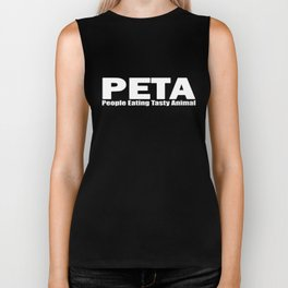PETA People Eating Tasty Animal Funny Humor Parody Bacon Barbecue BBQ Biker Tank