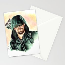 Green Arrow Stationery Cards