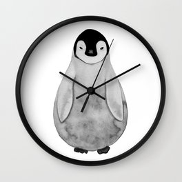 Watercolor Baby Penguin Wall Clock