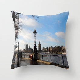Banks of the River Thames Throw Pillow