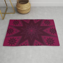 Mulled Berry Wine Star Flower Rug