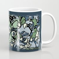 faces Mugs featuring Faces by Pat Pot Designs