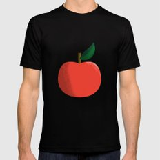 Apple 01 Mens Fitted Tee MEDIUM Black