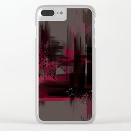 """Abstract Porstroke"" Clear iPhone Case"