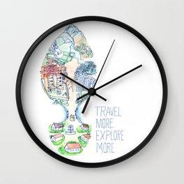 Travel more explore more Wall Clock