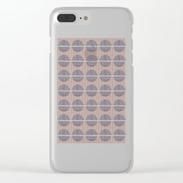 Circles and Stripes Clear iPhone Case