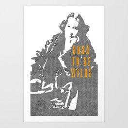Lady Oscar Wilde Art Print
