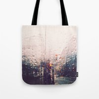 dc Tote Bags featuring DC Rain by elle moss