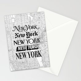 New York City black and white New York poster I love heart NYC Design black-white home wall decor Stationery Cards