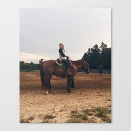 Casey at Roping Canvas Print
