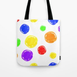 Seamless pattern of stylized circular spots colored markers Tote Bag