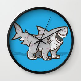 Great Polar Shark Wall Clock