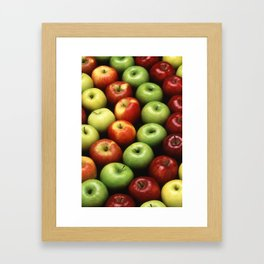 Various Types of Apples Framed Art Print