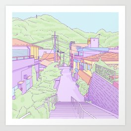 Another everyday place in Japan Art Print