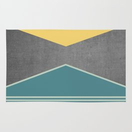 Concrete & Triangles III Rug