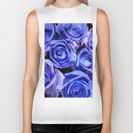 Blue Roses for You Biker Tank