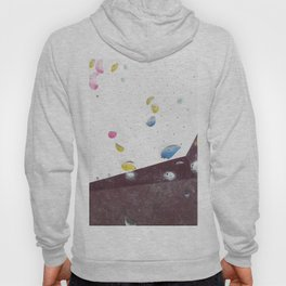 Geometric abstract free climbing bouldering holds pink yellow Hoody