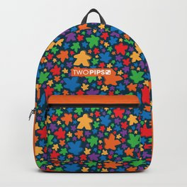 Funky Meeple Pattern Backpack