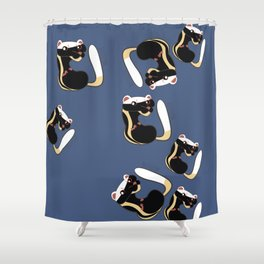 African Wildlife Poecilogale (African Weasel) Shower Curtain