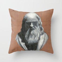 Leonardo Da Vinci Bust Portrait Throw Pillow