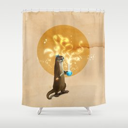 Otter Doing Science Shower Curtain