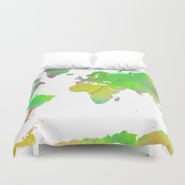 World Map 7 Duvet Cover
