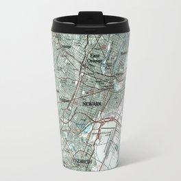 Newark NJ and Surrounding Areas Map (1986) Travel Mug