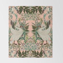 Romantic Swan Throw Blanket