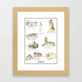 Best of Cyprus - Visit Cyprus through its most famous sites Framed Art Print