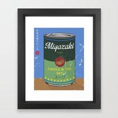 Castle in the sky - Miyazaki - Special Soup Series  Framed Art Print