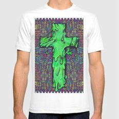 Slime X Cross MEDIUM Mens Fitted Tee White