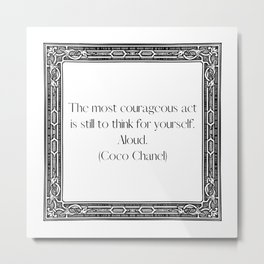 Courageous Metal Print