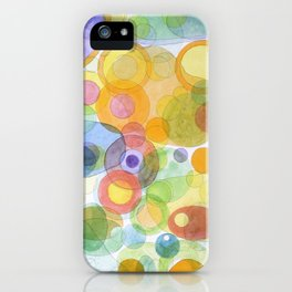 Vividly interacting Circles Ovals and Free Shapes iPhone Case