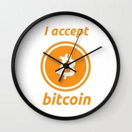 I accept bitcoin Wall Clock