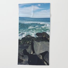 Jersey Shore Jetty Beach Towel